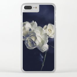 Floral lines. Clear iPhone Case