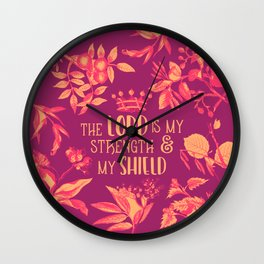 Shield (Burgundy Version) Wall Clock