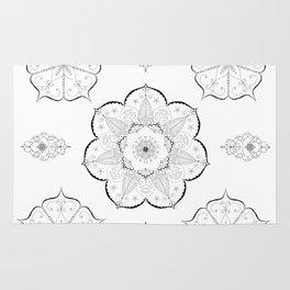 Mandala floral abstract yoga pattern namaste Rug