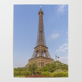 Idyllic Paris view Poster