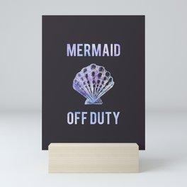 Mermaid Off Duty - Purple Seashell Mini Art Print