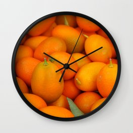 Kumquats Wall Clock