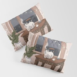 Hygge interior poster. Christmas home Pillow Sham