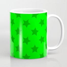 lime green stars, stars in yer eyez Coffee Mug