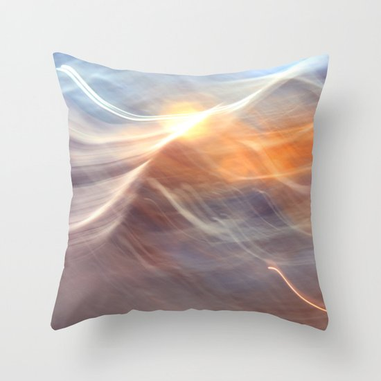 Earth , Wind & Fire (abstract) Throw Pillow