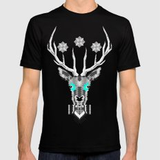 Silver Stag Geometric Black Mens Fitted Tee MEDIUM