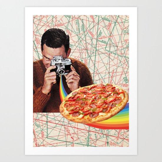 pizza obsession Art Print