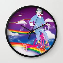 Lisa Frank & Jigsaw Mashup Wall Clock