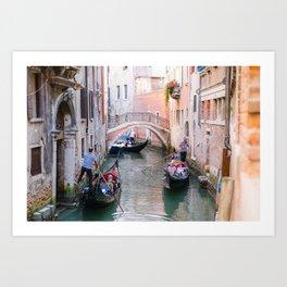 Exploring Venice by Gondola Art Print