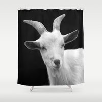 goat Shower Curtains featuring Goat by BACK to THE ROOTS