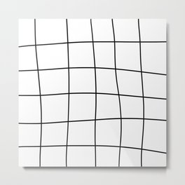 Human Grid Metal Print