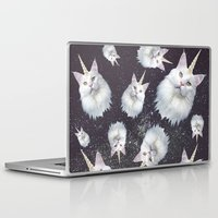 unicorn Laptop & iPad Skins featuring Unicorn Cat by Oh Monday