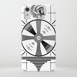 Indian-Head Test Pattern iPhone Case