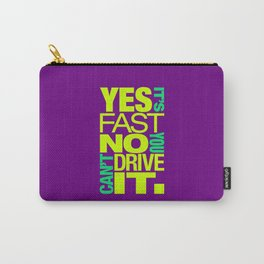 Yes it's fast No you can't drive it v7 HQvector Carry-All Pouch