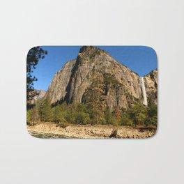 Peaceful Yosemite Valley Scene Bath Mat
