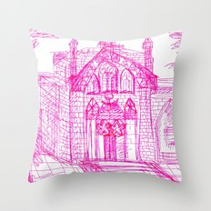 Building sketch Throw Pillow