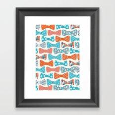 Geometric Bows Framed Art Print