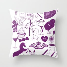 Sugar and spice and everything nice. Throw Pillow