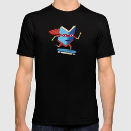 bookhero ride skateboard T-shirt