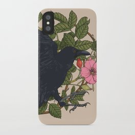 Raven and roses iPhone Case