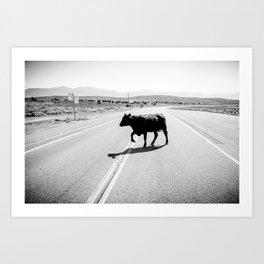 Drunk Cow Art Print