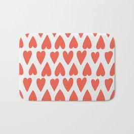 Shapes Nr. 4 - Red Hearts Bath Mat