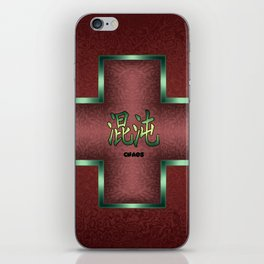 """Chaos"" Chinese Calligraphy on Celtic Cross iPhone Skin"