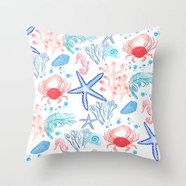 Marine Life 2 Throw Pillow
