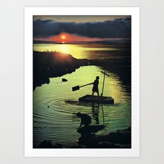 Golden beacon of the setting sun... Art Print
