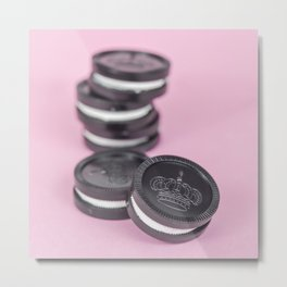 Checkered Oreos Metal Print