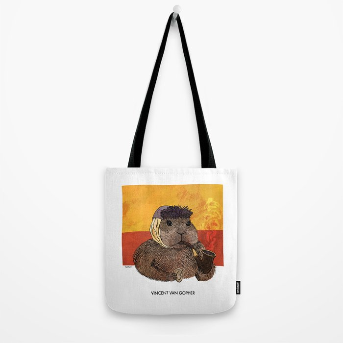 Vincent van Gopher Tote Bag