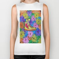 sneaker Biker Tanks featuring SNEAKER OF PEACE AND LOVE by Manuel Estrela 113 Art Miami