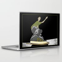 skateboard Laptop & iPad Skins featuring Skateboard 14  by Aquamarine Studio