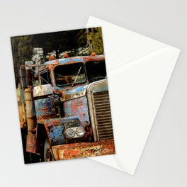 Old Truckers Never Die Stationery Cards