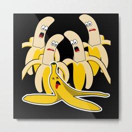 Banana Funny Banana Peel Metal Print