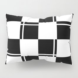 Black and white squares, crosses and lines Pillow Sham