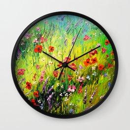 Blooming field Wall Clock