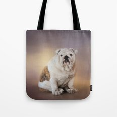 Patient Young Bulldog Tote Bag