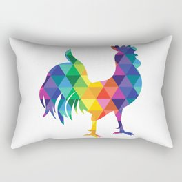 Geometric Galaxy - All the Colors of the Rainbow Rectangular Pillow