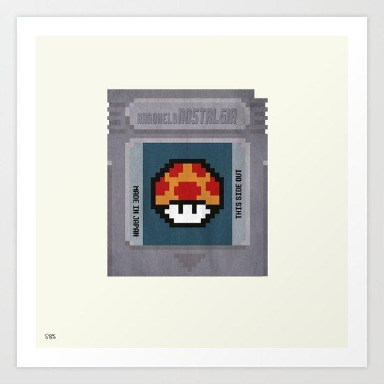 Nostalgia in a GameBoy Cartridge Art Print