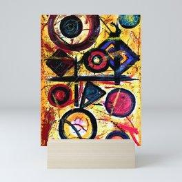 Arte abstracto al óleo Mini Art Print