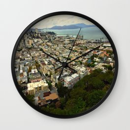 San Francisco from the Coit Tower Wall Clock