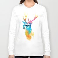 stag Long Sleeve T-shirts featuring Sunny Stag by Robert Farkas