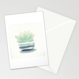 succulent in grey ceramic Stationery Cards
