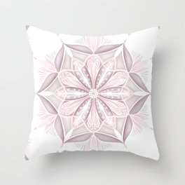 Pink Mandala Art Pattern Throw Pillow