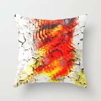 grunge Throw Pillows featuring Grunge by Eleigh Koonce