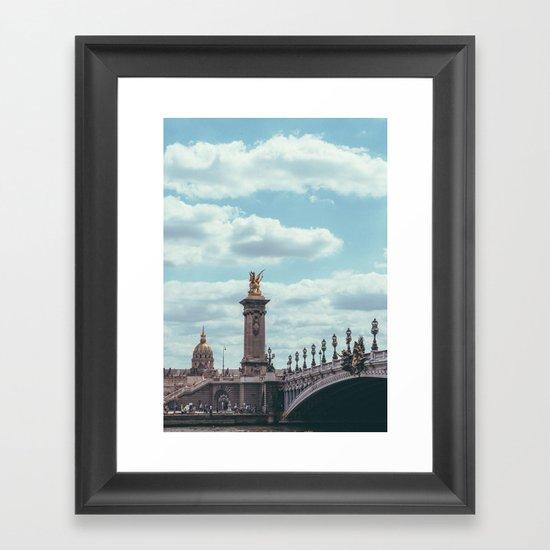 Pont Alexandre III, Paris  Framed Art Print
