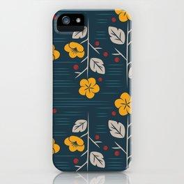Mid Century Modern  Vintage Floral iPhone Case
