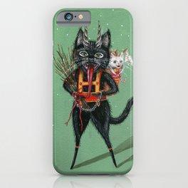 Krampus green background iPhone Case