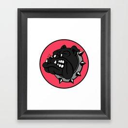 Black Bulldog Framed Art Print